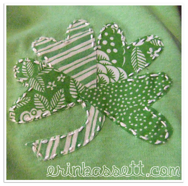 Handmade St. Patrick's Day T-Shirt Patch | Easy St Patrick's Day Decorations | Sewing Projects | Featured