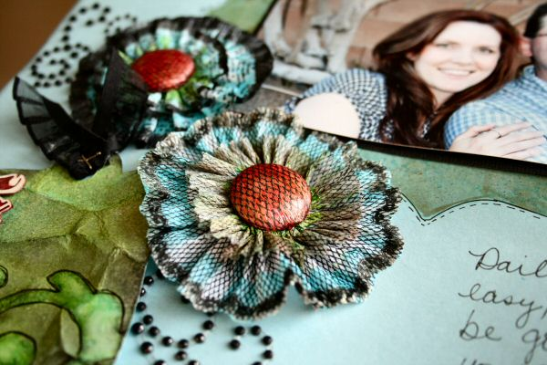 Erin Bassett - Tattered Angles - Crepe Paper Flower CloseUp2