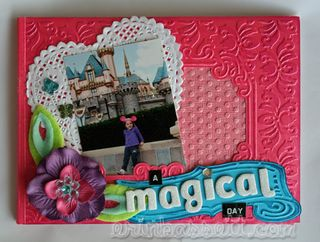 Erin Bassett - YourStory - Cuttlebug - Magical Mini-Scrapbook Cover blog