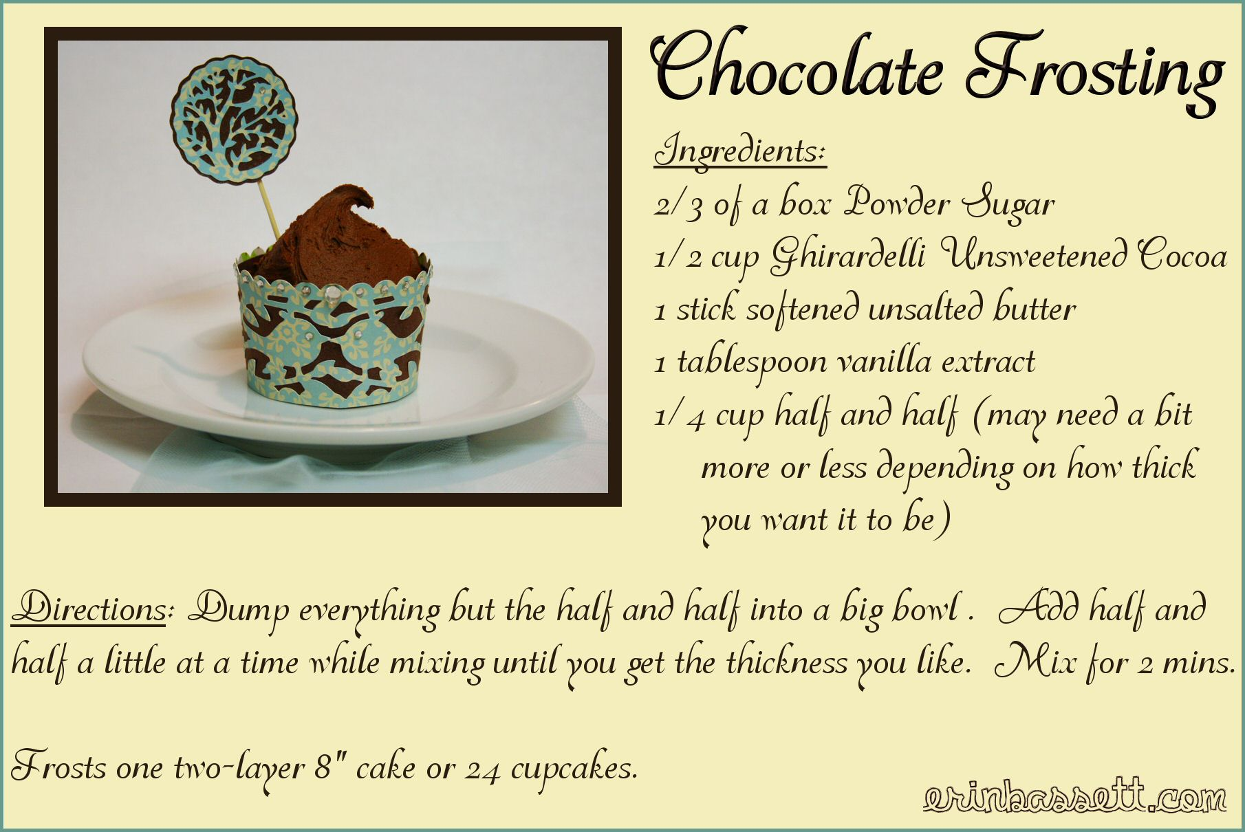 Erin Bassett - Chocolate Frosting Recipe