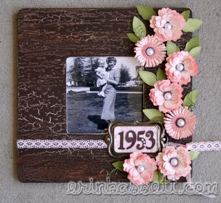 Erin Bassett - Lush Quilled Flower Photo Frame - blog