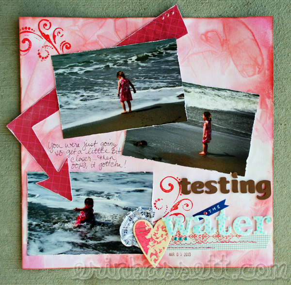 Erin Bassett - Tattered Angles - Saran Wrap - Beach Scrapbook - Blog