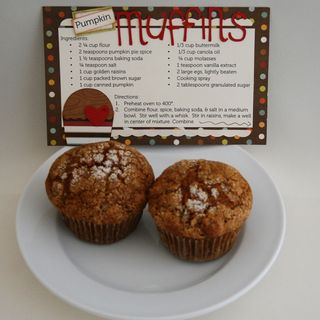 Erin Bassett - Cricut Expression - Pumpkin Muffin Recipe Card