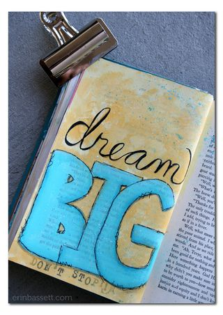 Erin Bassett - Art Journal - Dream Big1