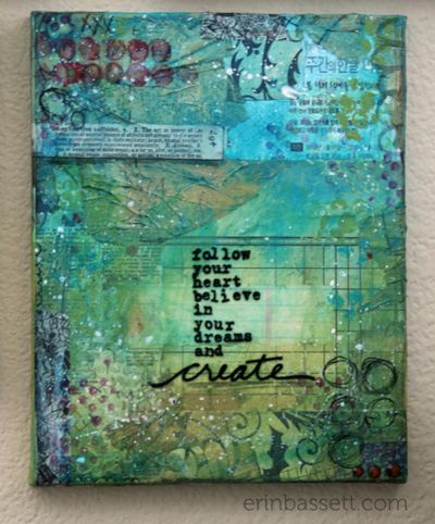 Erin Bassett - Mixed Media Canvas -  Create