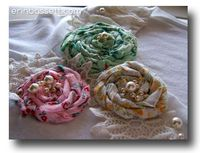 Rolled Fabric Flower - Erin Bassett