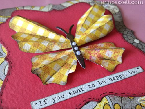 Erin Bassett - Lifestyle Crafts - Be Hapy Card - Butterfly - closeup1