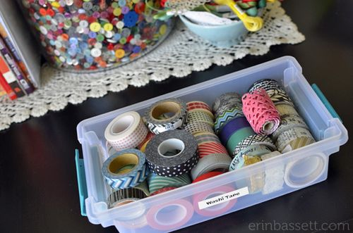 Erin Bassett - Washi Tape Storage