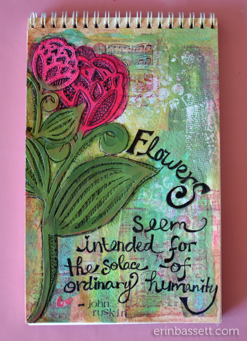 Erin Bassett - Zig - Art Journal - Flower Solace1