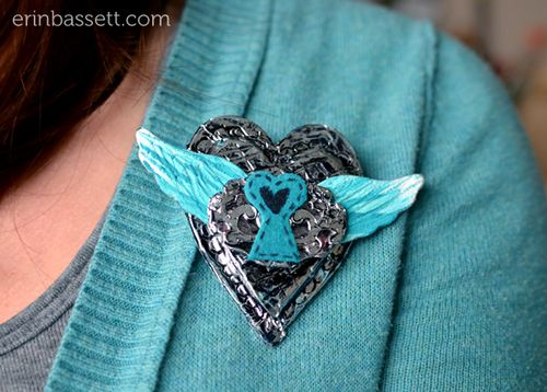 BLOG Erin Bassett - Flying Away Heart Pin