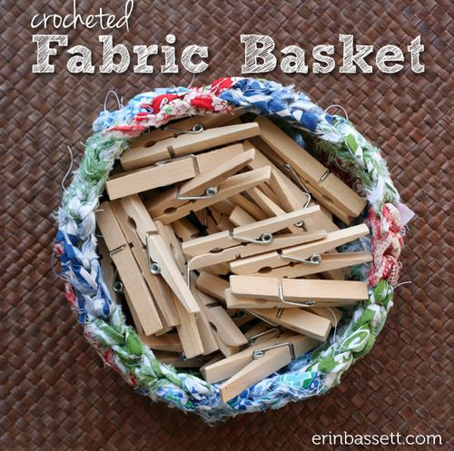 Erin Basset - Fabric Scrap Crochet Basket3