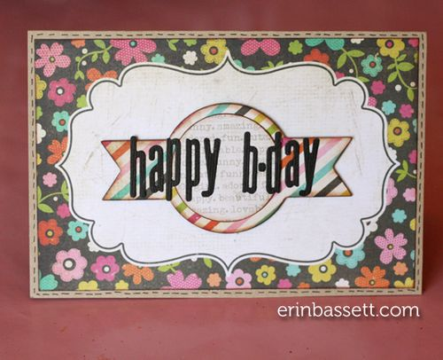 Erin Bassett - Lifestyle Crafts - Simple Stories - Happy Bday Card1