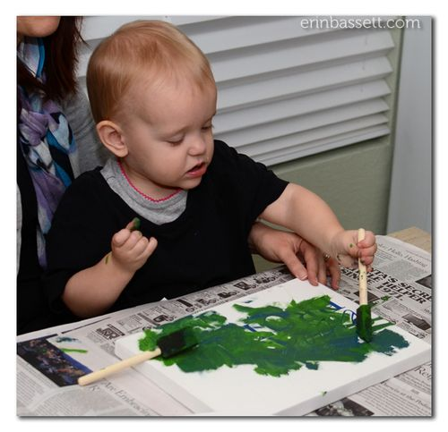 Erin Bassett - Kid's Art - Painted Canvas2