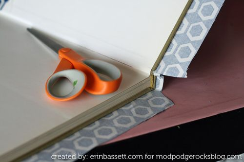 Erin Bassett - Fabric Covered Books - step4