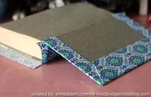 Erin Bassett - Fabric Covered Books - step6