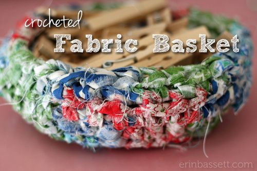 Erin Basset - Fabric Scrap Crochet Basket2