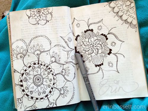 Erin Bassett - ZIG - Art Journal Doodeling 3