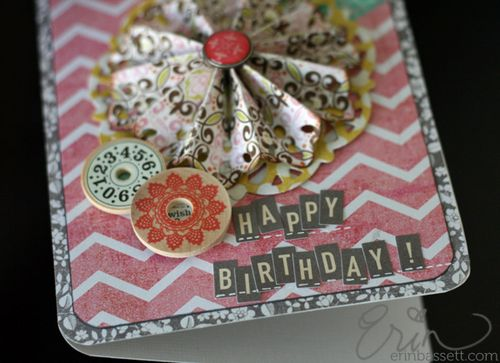 Happy Birthday Card with the Lifestyle Crafts Doily Rosette Die-Cut
