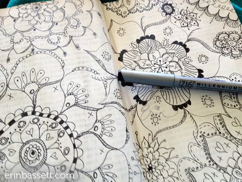 Erin Bassett - ZIG - Art Journal Doodeling 4