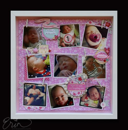 Making Memories Baby 12x12 Scrapbook Layout