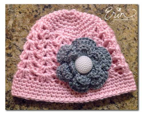 Crochet Baby Hat with Flower2