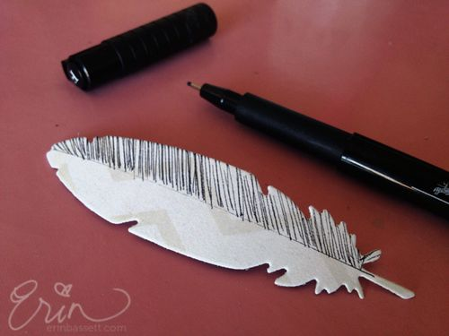 Erin Bassett - Lifestyle Crafts - Feather2