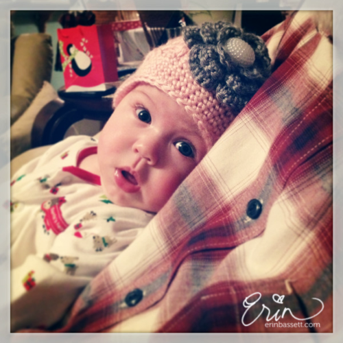 Kaela - Crochet Baby Hat with Flower