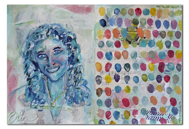 Erin Bassett - painted art journal