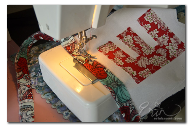 #ijegarlandexchange - Sewing Home Garland Banner by ErinBassett