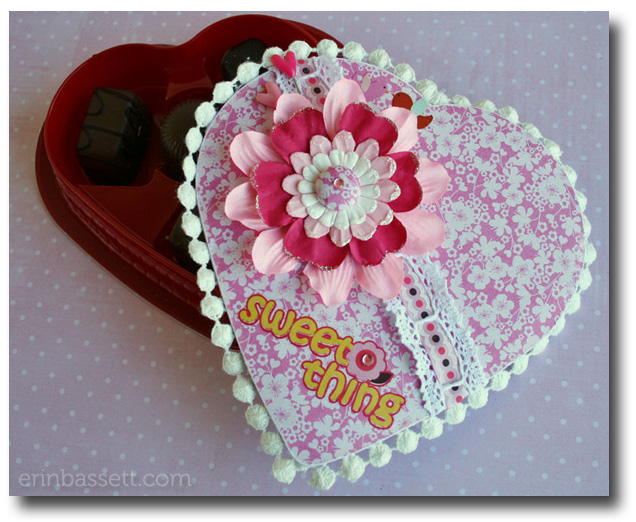 Valentine covered chocolate box - Erin Bassett