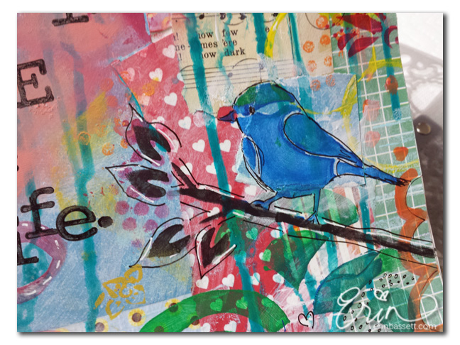 Art Journal Swap February 2014 - Erin Bassett