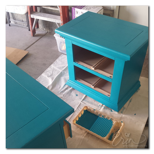 Diy painted nightstand - Erin Bassett