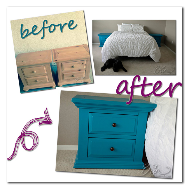 Erin Bassett - DIY Nightstands Before After