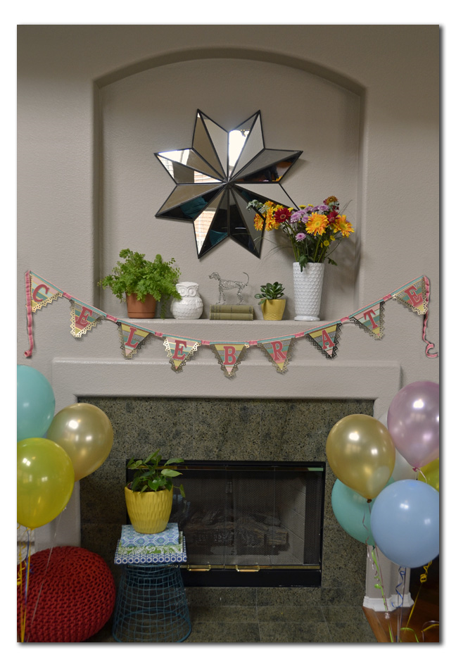 DIY Doily Triangle Banner