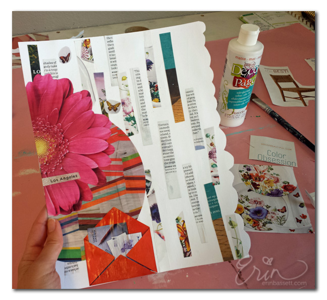 Prompt - Magazine Art Journal Page - Step2 - Erin Bassett