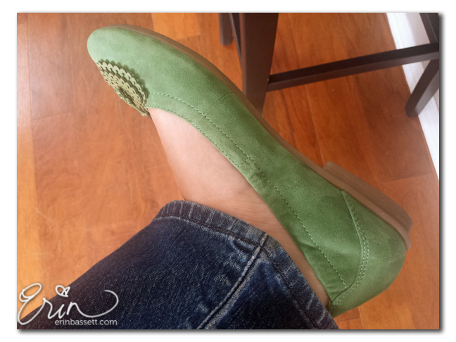 Earth Footwear Butterfly - Grass Green - ballet flat
