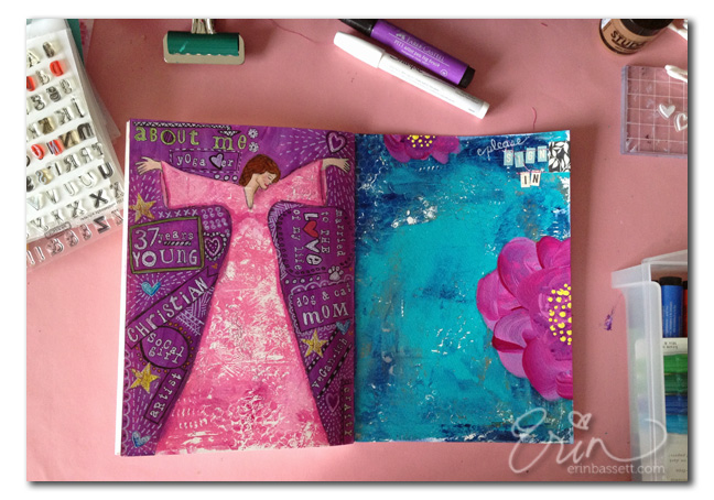 Erin Bassett - FJSWAP - Sign In - About Me Art Journal Pages