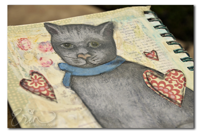 Mixed media cat