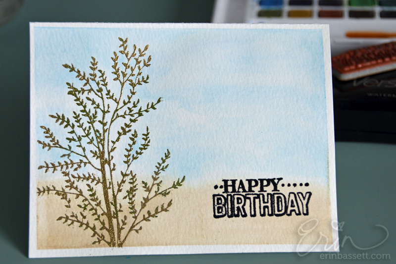 Watercolor Birthday Cards Tutorial ~ Watercolor play creativite by erin bassett