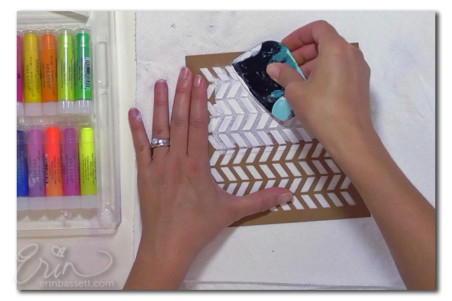 from the Balzer Designs Blog: Guest Post: Stenciled Pocket Scrapbook Cards with Erin Bassett #projectlife
