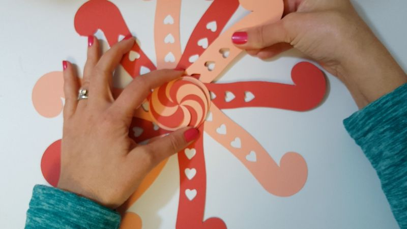 Heart Candy Kirigami - Step1