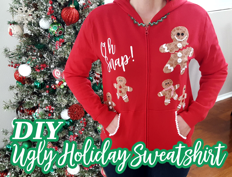 DIY Ugly Holiday Sweatshirt 2