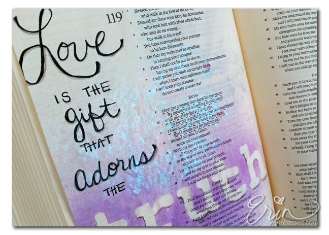 Bible Journaling Psalm - CloseUp