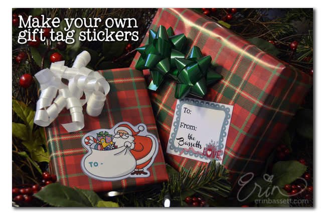 Make Your Own Holiday Gift Tag Stickers CreativitE By Erin Bassett - Make your own decal kit