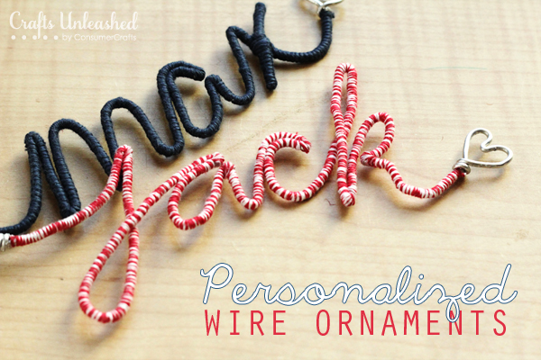 Wire letters DIY ornament