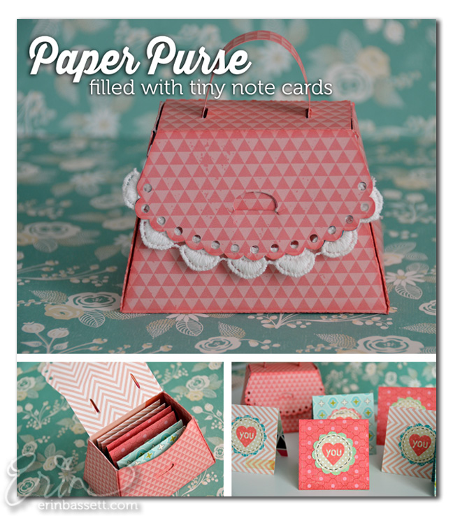 Handmade Mini Note Card and Purse Holder Paper Craft4