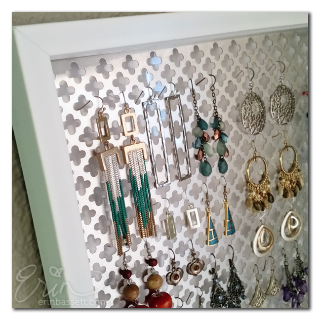 DIY Jewelry Earring Holder 2