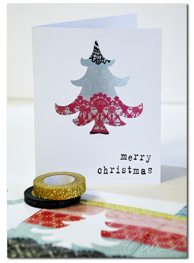 Resin Tissue Paper - Christmas Card 1