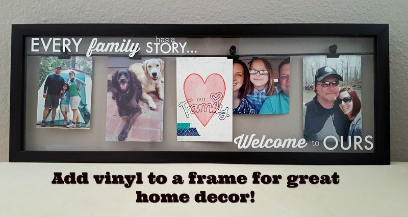 ScanNCut - Craft Vinyl on Glass Photo Frame - Title