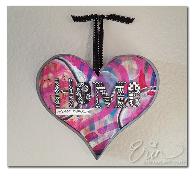 Mixed Media Home Decor Heart Frame CreativitE By Erin Bassett